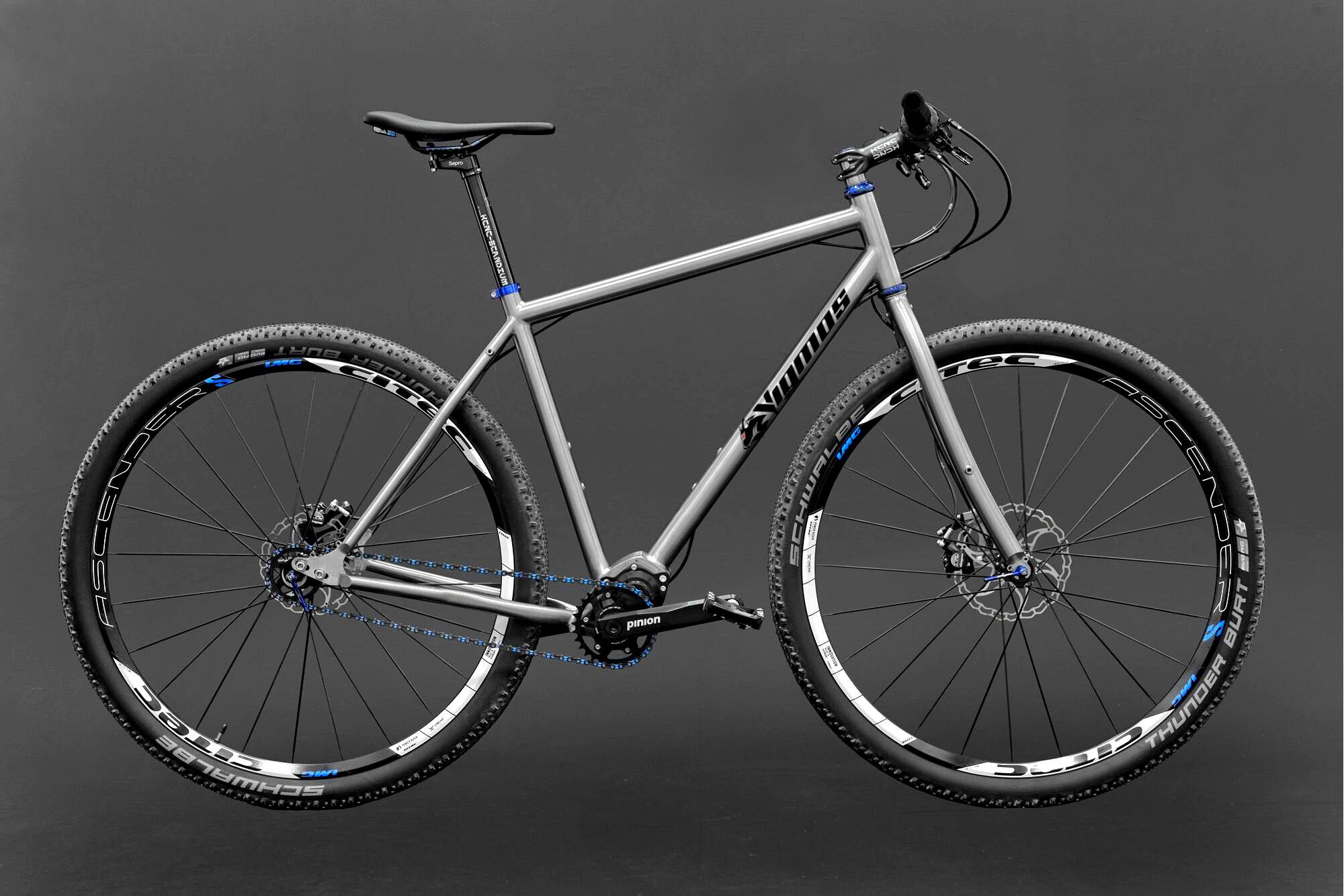 Titan MTB-Titan-Bike gefertigt von vigmos.de dem individuellen Fahrradbauer von Titanbikes in Leipzig
