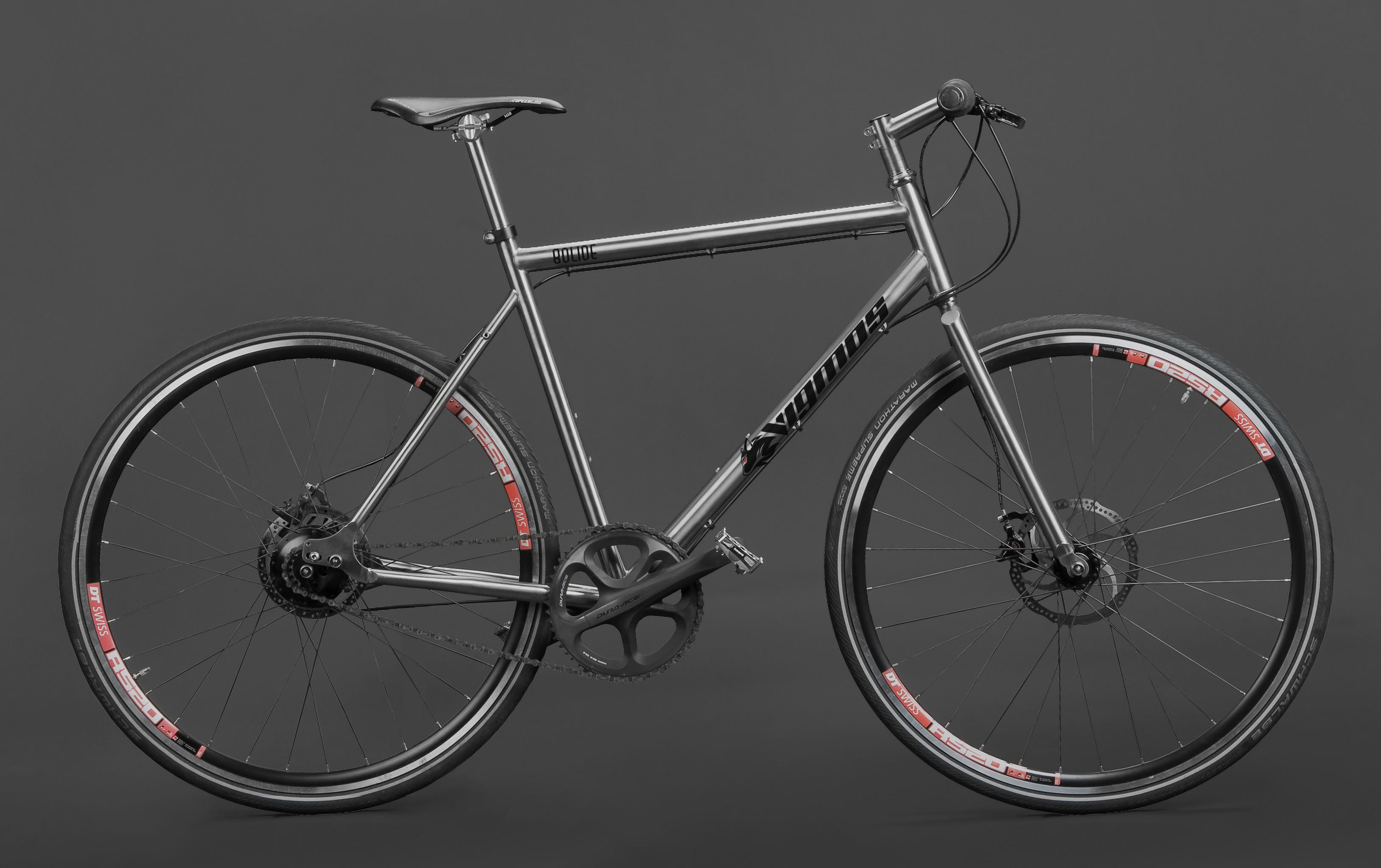Titan Rohloff Trekking Rad - Individueller Fahrradbau - Titanteile