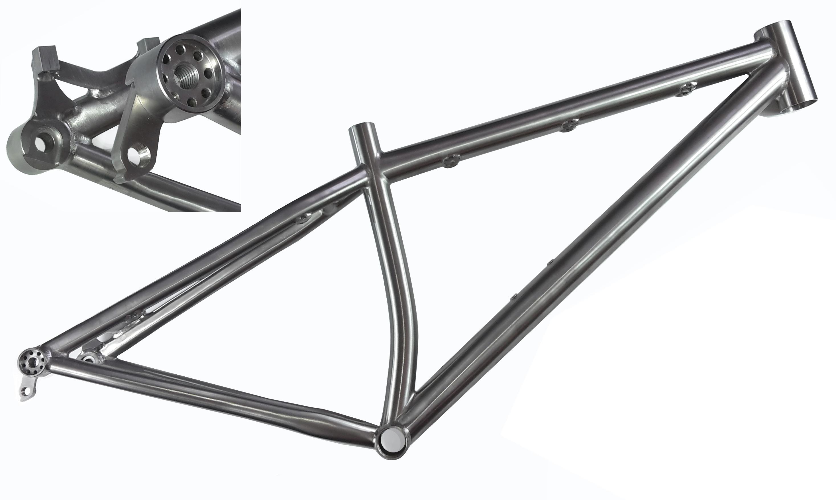 Titan Rahmen mit Steckachse für RR o. MTB – Individueller Fahrradbau ...